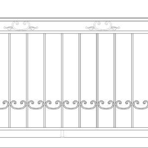 Кованый балкон 3001