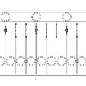 Кованый балкон 3002