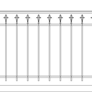 Кованый балкон 3003