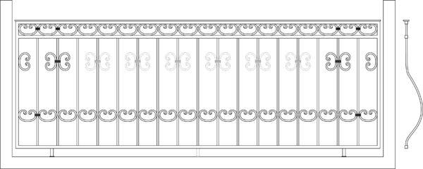 Кованый балкон 3004