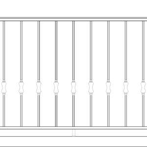 Кованый балкон 3005