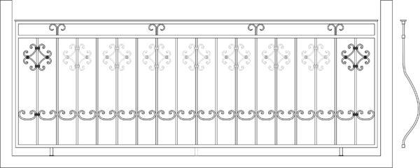 Кованый балкон 3006