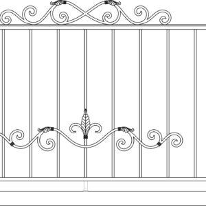 Кованый балкон 3007