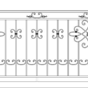 Кованый балкон 3008