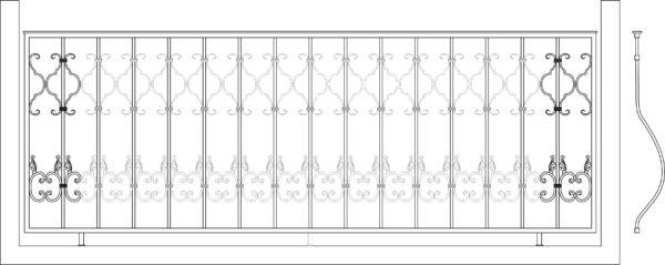 Кованый балкон 3009