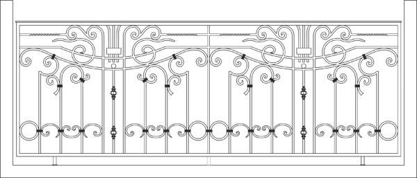 Кованый балкон 3011
