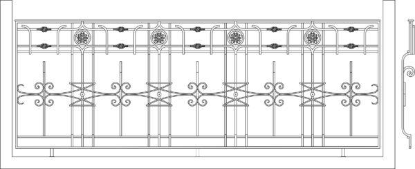 Кованый балкон 3013