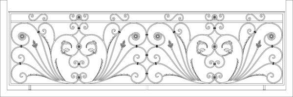 Кованый балкон 3014