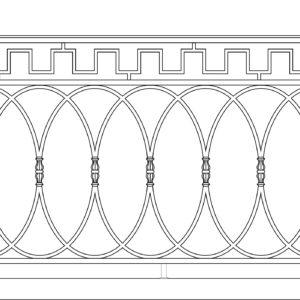 Кованый балкон 3015