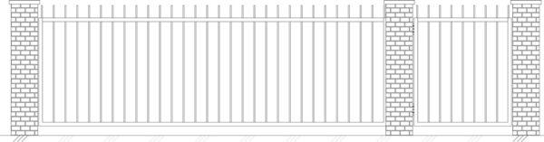 Кованые ворота 5001