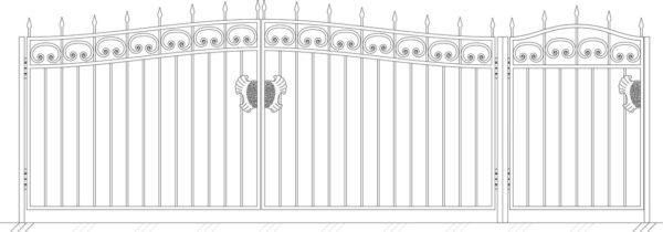 Кованые ворота 5002