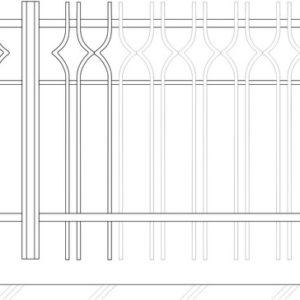 Кованые ворота 5003