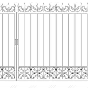 Кованые ворота 5004