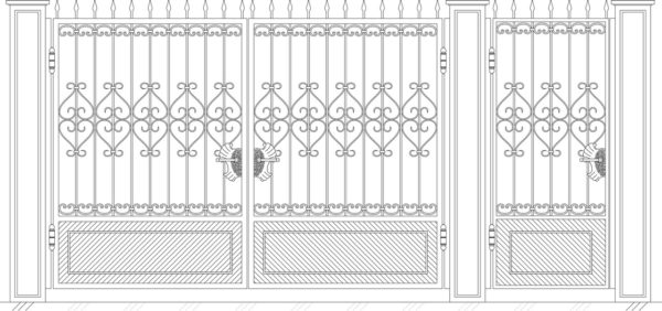Кованые ворота 5005