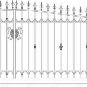 Кованые ворота 5006