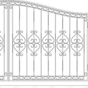 Кованые ворота 5007