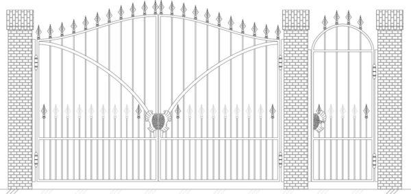 Кованые ворота 5008