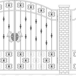 Кованые ворота 5009