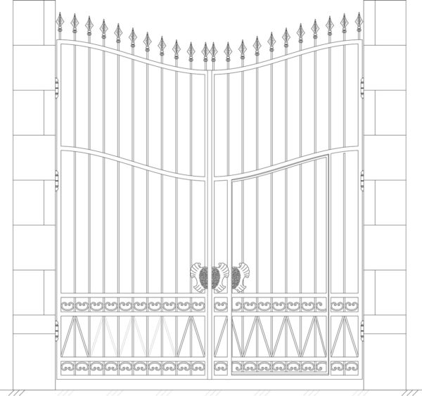 Кованые ворота 5010