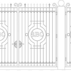 Кованые ворота 5011
