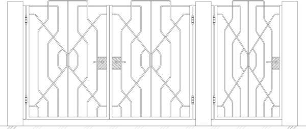 Кованые ворота 5012