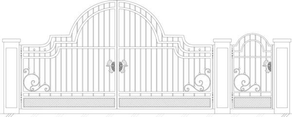 Кованые ворота 5013
