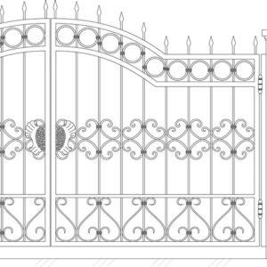 Кованые ворота 5014