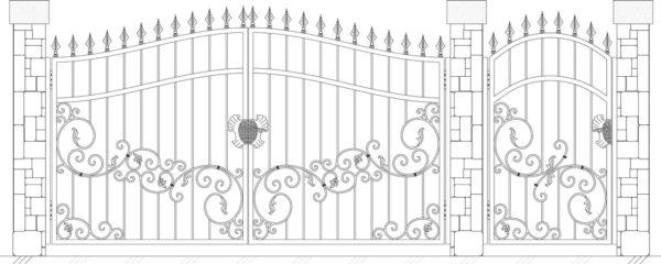Кованые ворота 5016