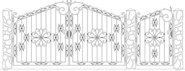 Кованые ворота 5017