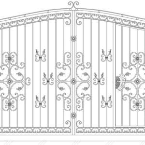 Кованые ворота 5018