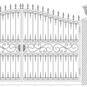 Кованые ворота 5019