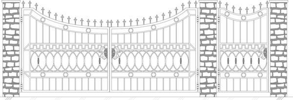 Кованые ворота 5020
