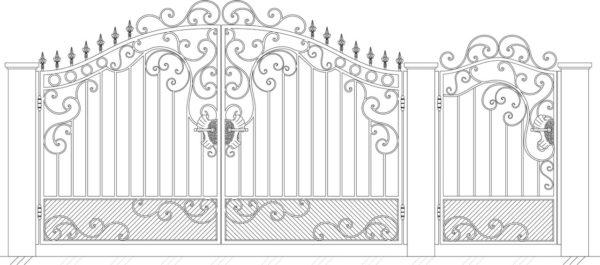 Кованые ворота 5021