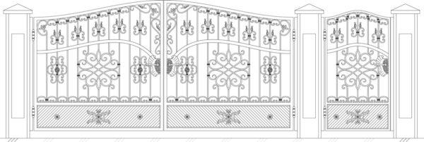 Кованые ворота 5022