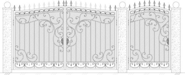 Кованые ворота 5024