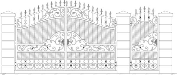 Кованые ворота 5025