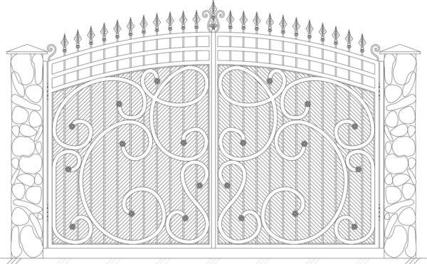 Кованые ворота 5026