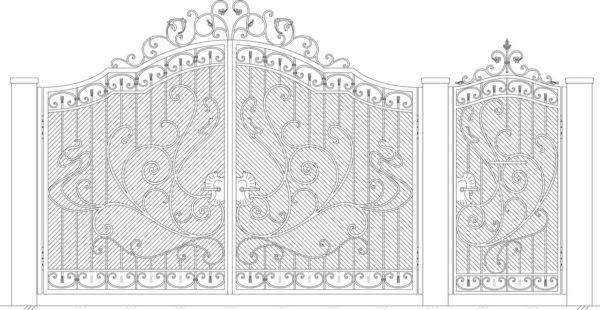 Кованые ворота 5027