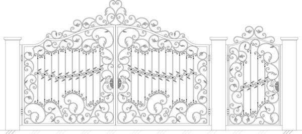 Кованые ворота 5028