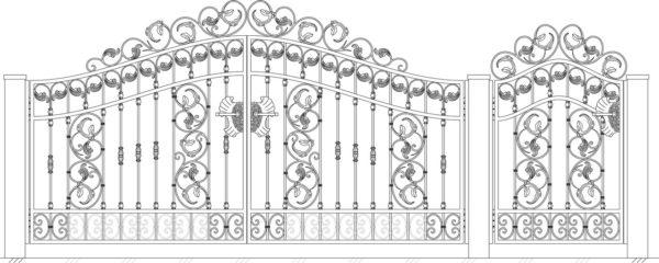 Кованые ворота 5030